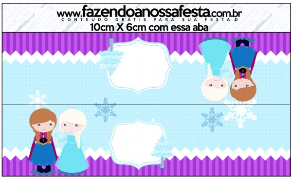 Saquinho de Balas Frozen Cute Roxo e Azul