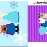 Saquinho de Chá Frozen Cute Roxo e Azul