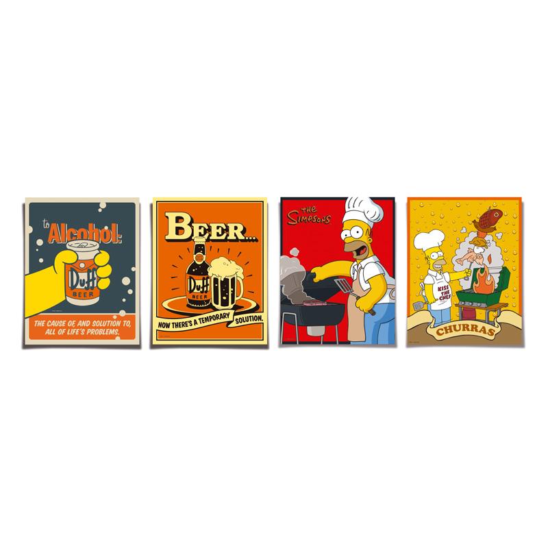 Poster Churrasco dos Simpsons