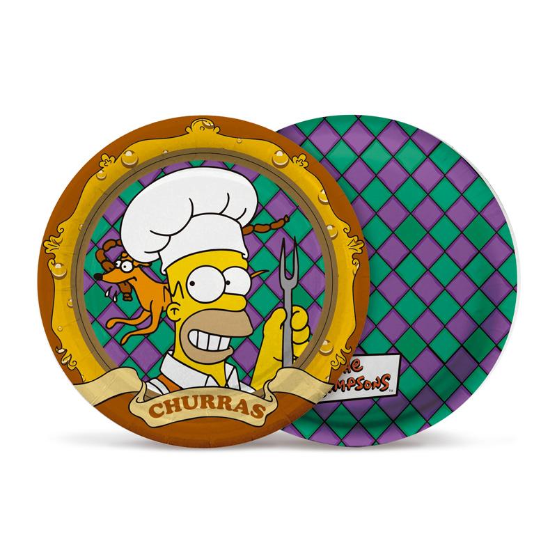 Pratos Churrasco dos Simpsons