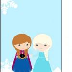 Tag Agradecimento Frozen Cute Roxo e Azul