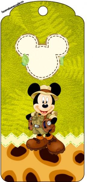 Tag Agradecimento Mickey Safari