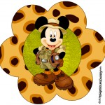 Toppers Flor Mickey Safari