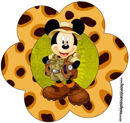 Toppers Flor Mickey Safari