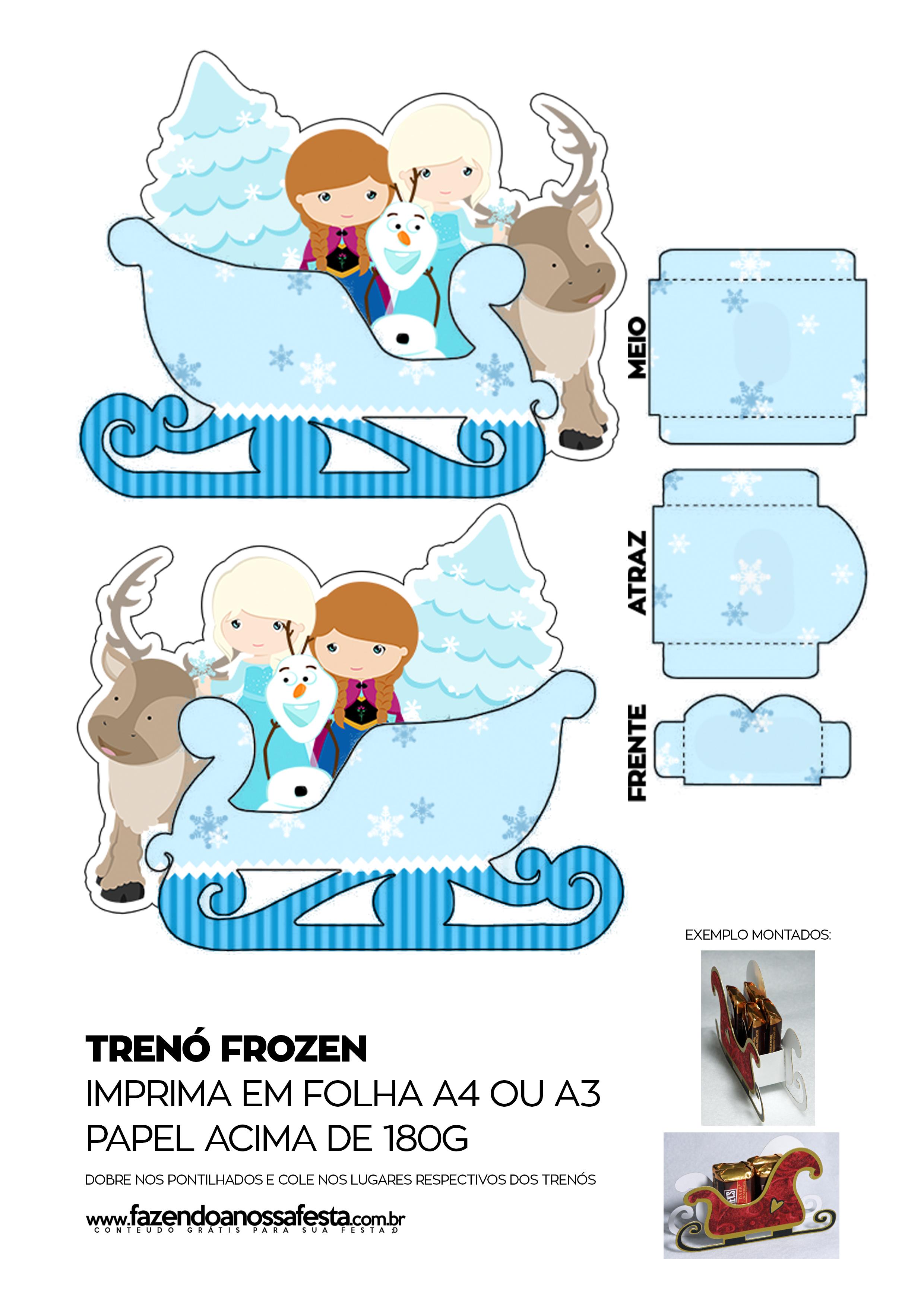 Caixa Trenó Frozen