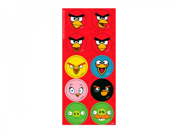 Toppers Adesivos Angry Birds: