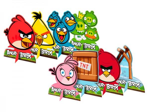 Decoração Enfeite Mesa Angry Birds: