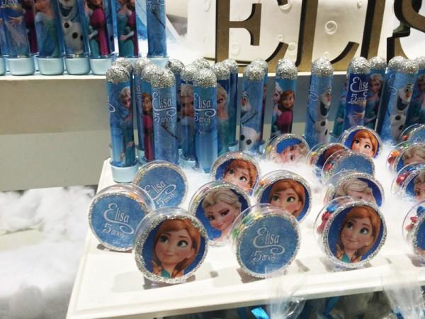 Latinhas e Tubetes Frozen: