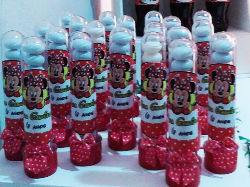 Tubetes Festa Minnie Vermelha  Fazendo a Nossa Festa