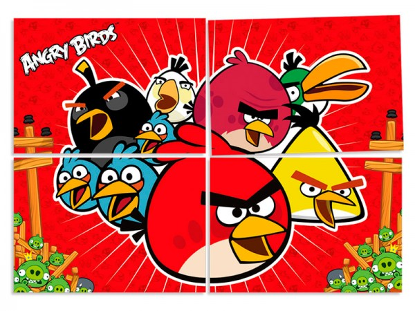Painel Decorativo Angry Birds: