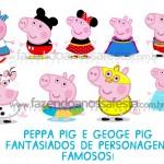 Peppa Pig e George Pig Vestidos de Personagens Famosos