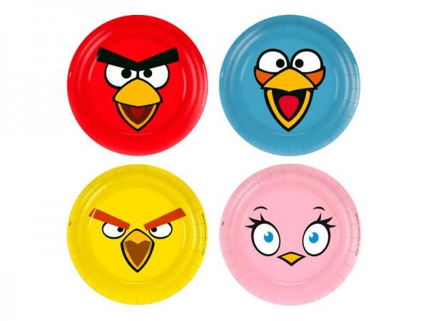 Pratos Descartáveis Angry Birds:
