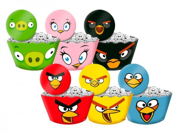 Saias Wrappers para Cupcakes Angry Birds: