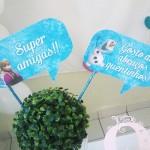 Plaquinhas Divertidas Festa Frozen