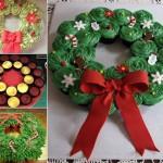 Guirlanda para ceia de Natal de cupcakes