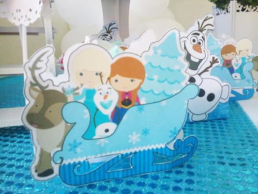 Caixa Trenó Festa Frozen