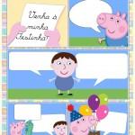 Convite Gibi George Pig Menino