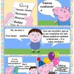 Convite Gibi Quiz George Pig Menino