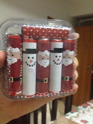 Rótulo Batom para o Natal: