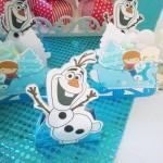 Caixa Trenó do Blog Festa Frozen