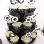Cupcake Festa Preto e Branco