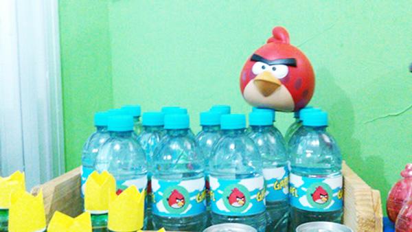 Garrafinha de água Festa Angry Birds