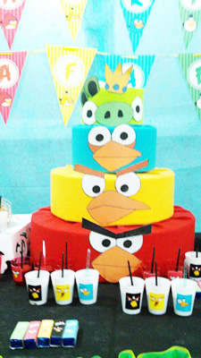 Bolo Festa Angry Birds