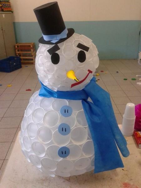 Boneco de Neve com Copos