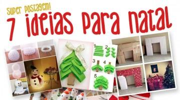 Ideias para o Natal 7 ideias geniais !