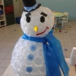 Como fazer Boneco de Neve com Copos!