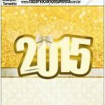 Molde Quadrado Ano Novo 2015