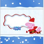 Bala Personalizada Peppa Pig Natal
