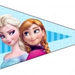 Bandeirinha Sanduche Frozen Azul 5
