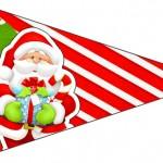 Bandeirinha Sanduiche 1 Natal Vermelho e Verde