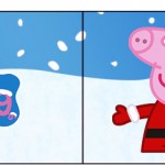 Bandeirinha Sanduiche 1 Peppa Pig Natal