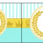 Bandeirinha Sanduiche 2 Coroa de Príncipe Verde