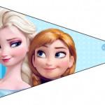 Bandeirinha Sanduiche 4 Frozen Azul