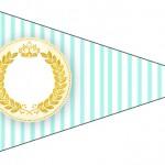 Bandeirinha Sanduiche 5 Coroa de Príncipe Verde