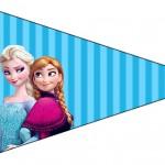 Bandeirinha Sanduiche 5 Frozen Azul