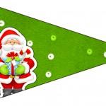 Bandeirinha Sanduiche 5 Natal Vermelho e Verde