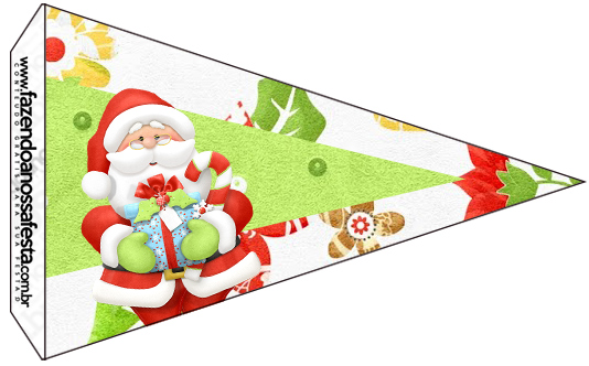 Bandeirinha Sanduiche 5 Natal