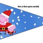 Bandeirinha Sanduiche 5 Peppa Pig Natal