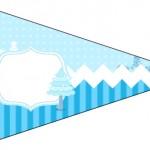 Bandeirinha Sanduiche 6 Frozen Azul