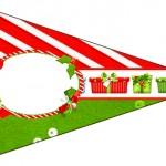 Bandeirinha Sanduiche 6 Natal Vermelho e Verde