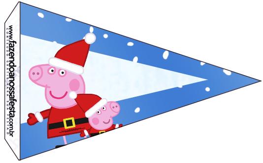 Bandeirinha Sanduiche 7 Peppa Pig Natal