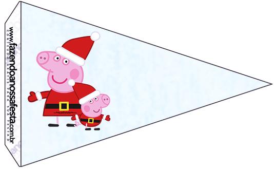 Bandeirinha Sanduiche 9 Peppa Pig Natal