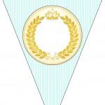 Bandeirinha Sanduiche Coroa de Príncipe Verde