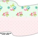 Bandeirinha Sanduiche Floral Verde e Rosa 2