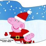 Bandeirinha Sanduiche Peppa Pig Natal