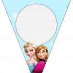 Bandeirinha Varalzinho Frozen Azul